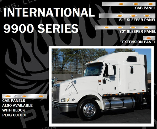International 9900 Series Cab, Sleeper, and Extension Panels