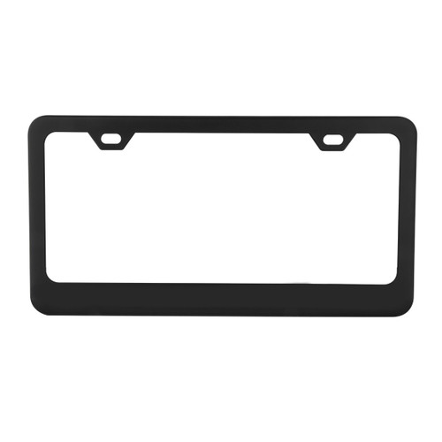 Black 2-Hole License Plate Frame