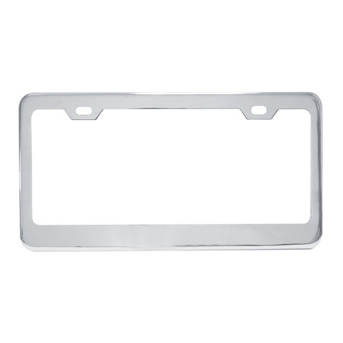 Chrome Plated Steel 2-Hole License Plate Frame