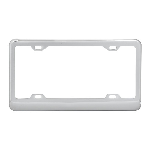 Chrome Plated Steel 4-Hole License Plate Frame