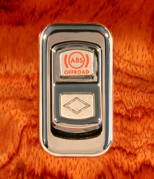 ABS Off Road-Illuminated Chrome Actuator Button for Electric Rocker Switch