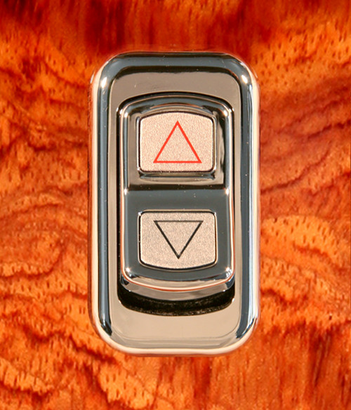 Arrows (Engine Brake)-Illuminated Chrome Actuator Button for Electric Rocker Switch