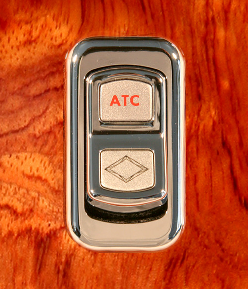 ATC-Illuminated Chrome Actuator Button for Electric Rocker Switch