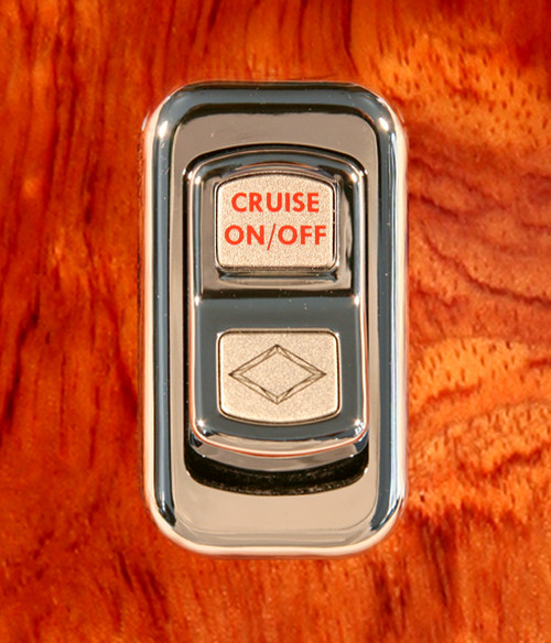 Cruise On/Off-Illuminated Chrome Actuator Button for Electric Rocker Switch
