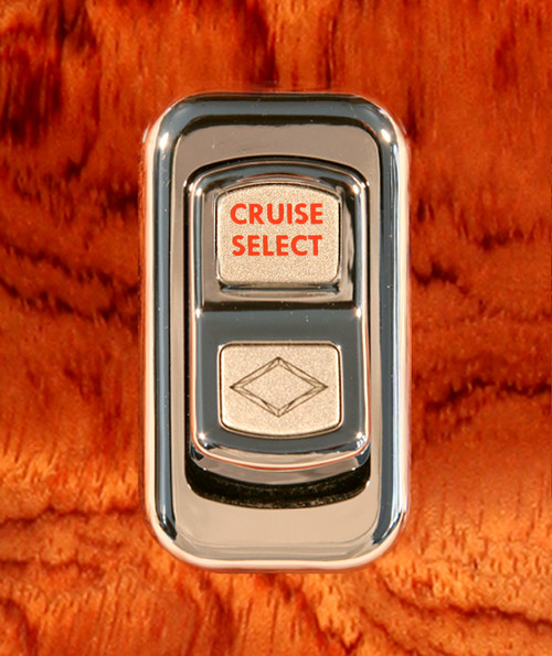 Cruise Select-Illuminated Chrome Actuator Button for Electric Rocker Switch