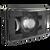 4x6 LED Headlights - 8800 Evolution 2 Series by JW Speaker - High Beam, Black