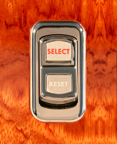 Select/Reset-Illuminated Chrome Actuator Button for Electric Rocker Switch