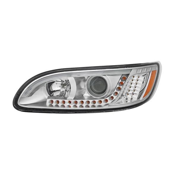 Peterbilt 386/387 LED Chrome Headlight