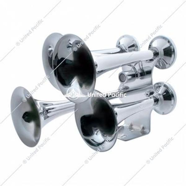 4 Trumpet Chrome Train Horn - Standard Duty