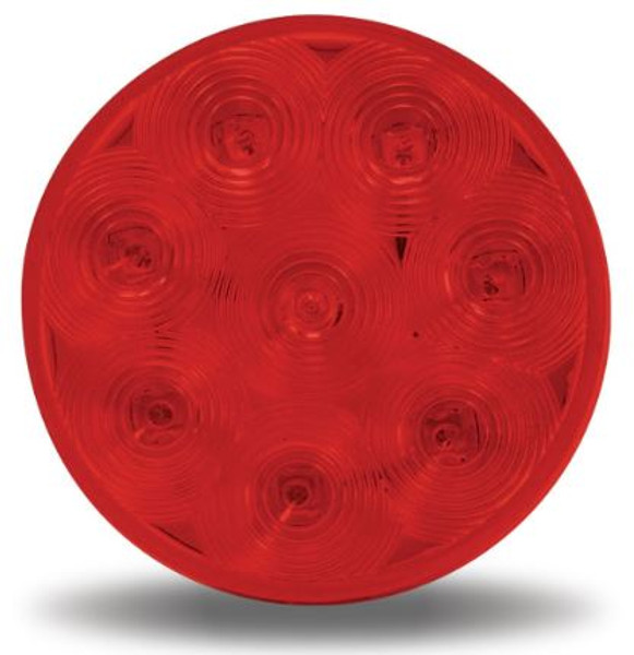 "4"" Round Economy LED Red, - Stop, Turn & Tail (TLED-48R)"