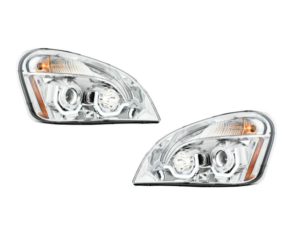 Chrome Columbia Projection Headlight w/LED Running Light