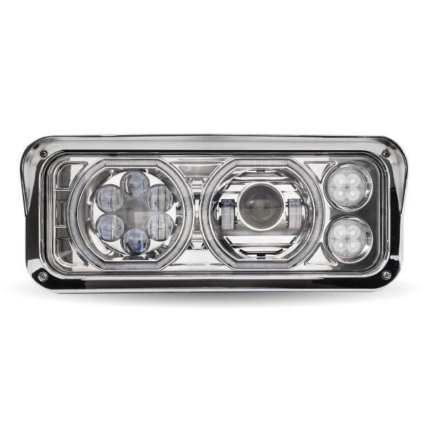 Chrome Universal LED Projector Headlight Assembly
