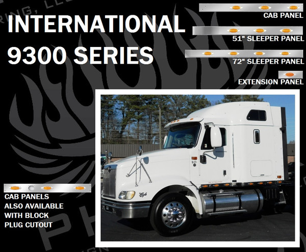 International 9300 Series Cab, Sleeper, and Extension Panels