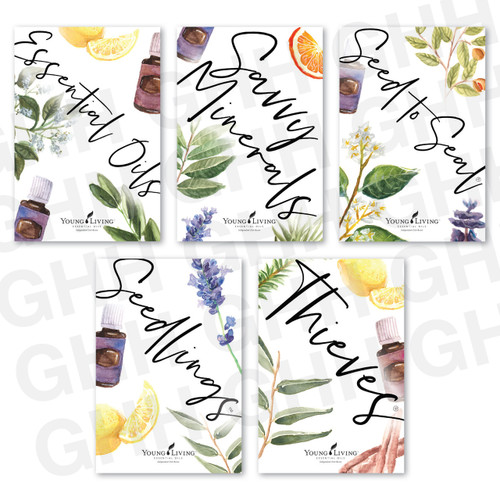Young Living Watercolor Postcards
