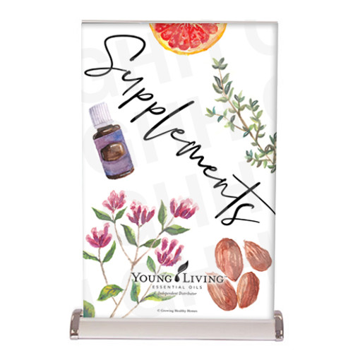 Young Living Supplements Tabletop Banner