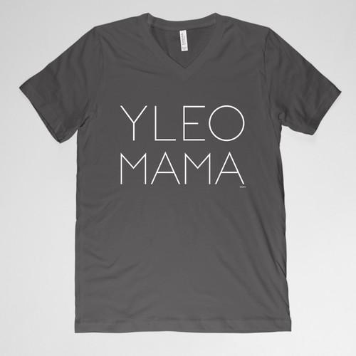 YLEO MAMA V-neck Shirt - Black