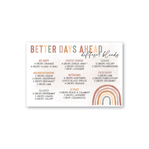 Better Days Ahead Diffuser Blend Printable Card