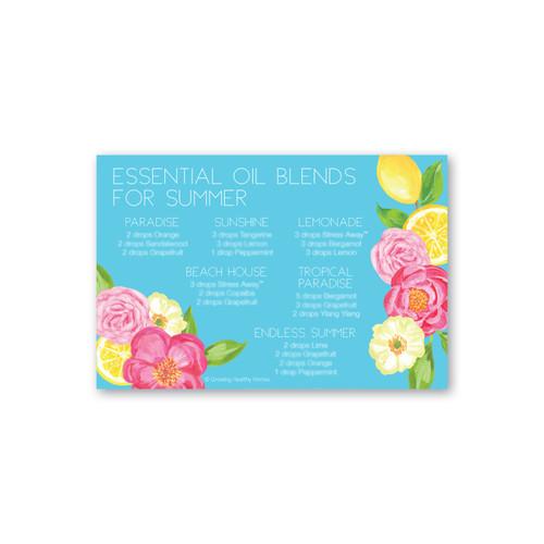 Summer Diffuser Blend Printable Card