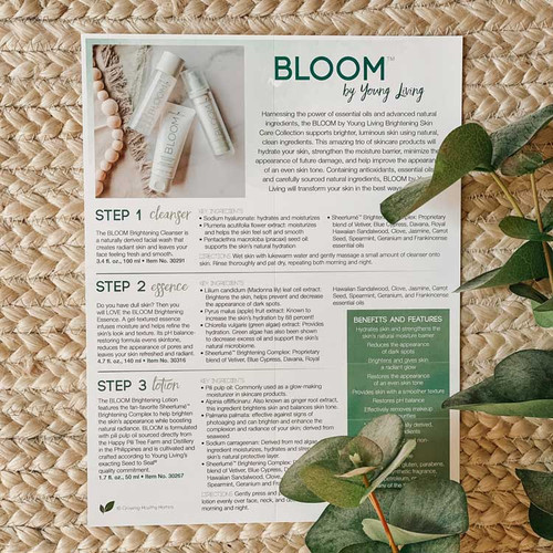 Bloom Skincare Handout (PDF)