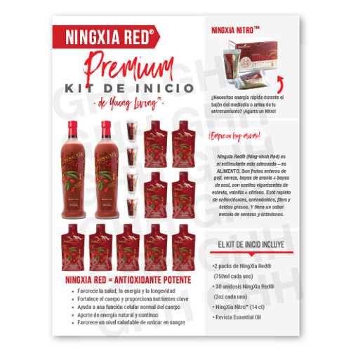Spanish Ningxia Red® Premium Starter Kit Flyer (PDF)