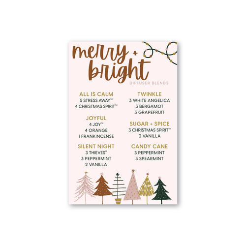 Merry + Bright Diffuser Blend Printable Card