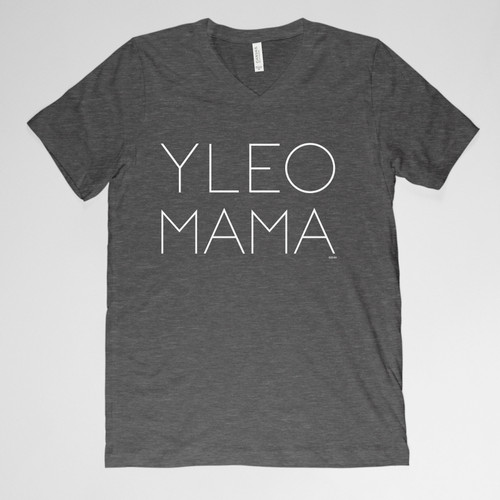 YLEO MAMA V-neck Shirt - Dark Gray