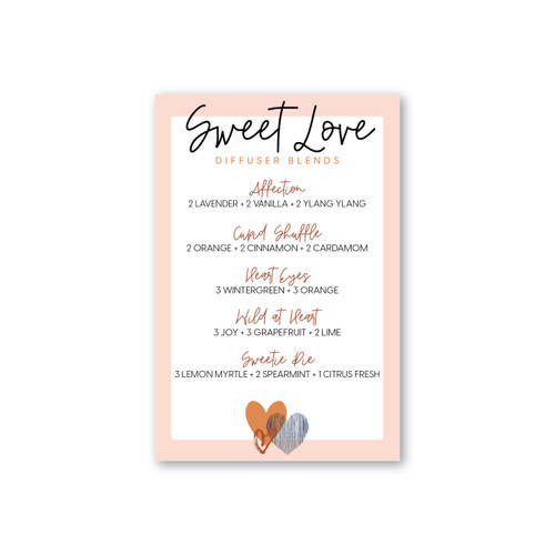 Sweet Love Diffuser Blend Printable Card