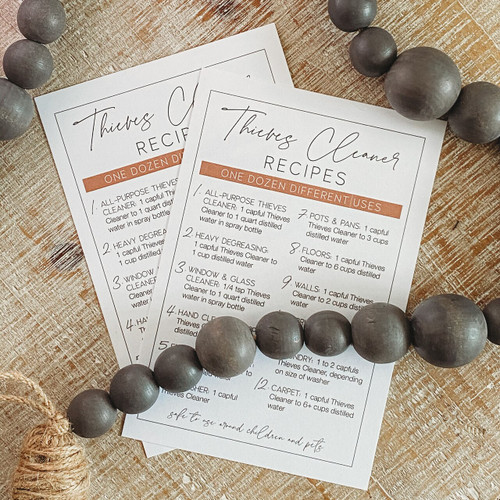 Thieves Cleaner Recipe Card
