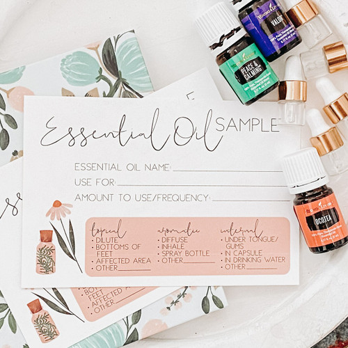 Essential Oil Sample Printable Card
