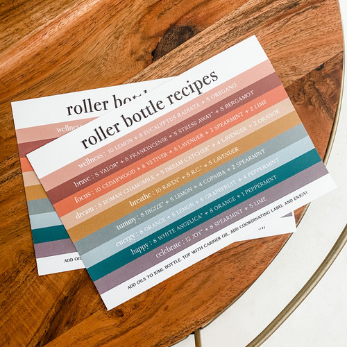 Modern Printed Recipe Card Pack