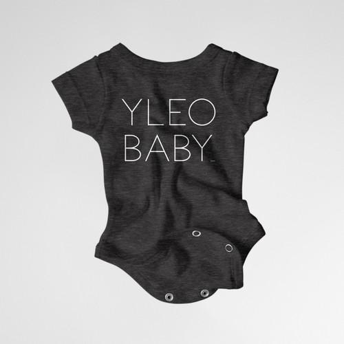 YLEO BABY Onesie - Dark Gray