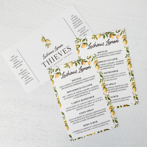 Lushious Lemon Printable Idea Card
