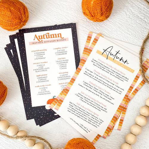 Autumn DIY & Diffuser Blends Cards