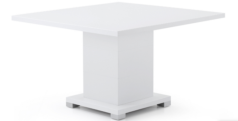 "White 47"" Matte Lacquer Square Meeting Table"