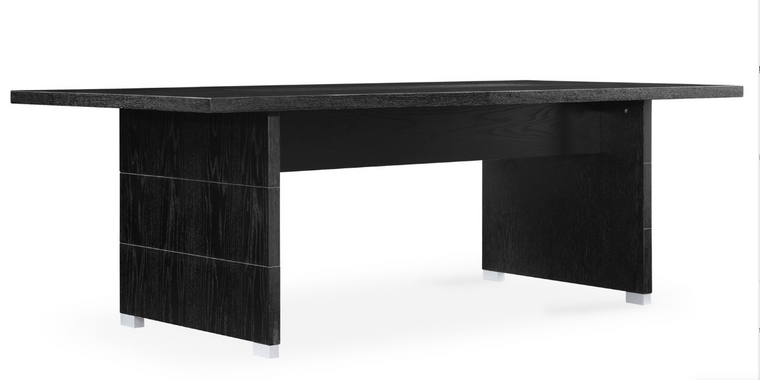 "Black Oak 87"" Rectangular Meeting Table"