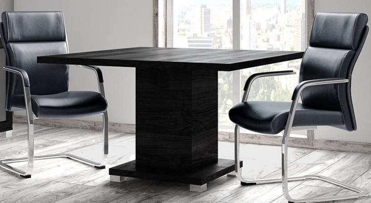 """Black Oak 47"""" Square Meeting Table"""