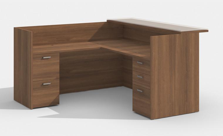 AM-Series L-Shape Reception Desk