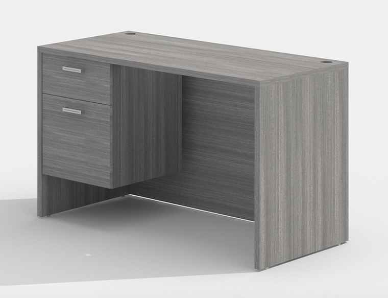 """AM-Series 48"""" x 30"""" Executive Desk with Single Suspended Pedestal"""