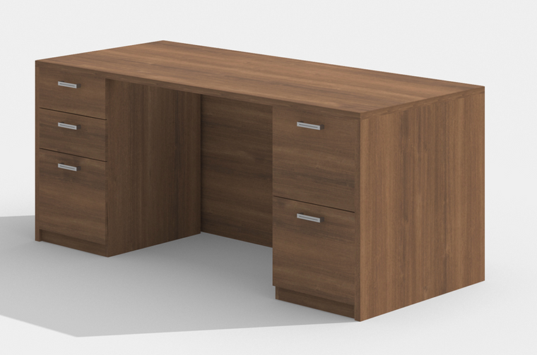 "AM-Series 60"" Executive Desk with Double Pedestals"