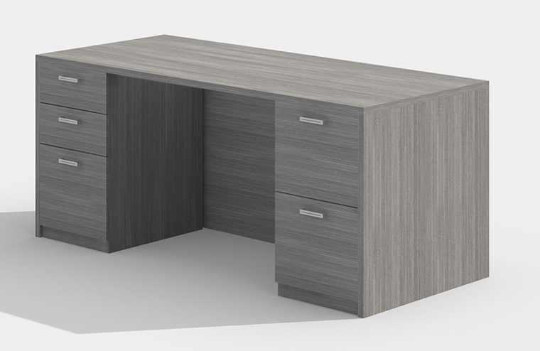 "Am-Series 66"" Executive Desk with Double Pedestals"