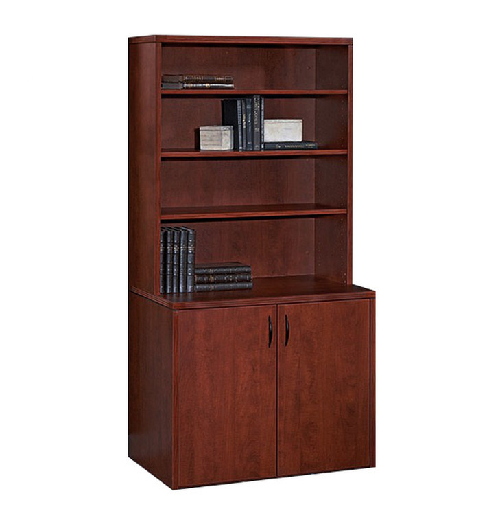 AM-Series 2-Door Storage Cabinet with Hutch
