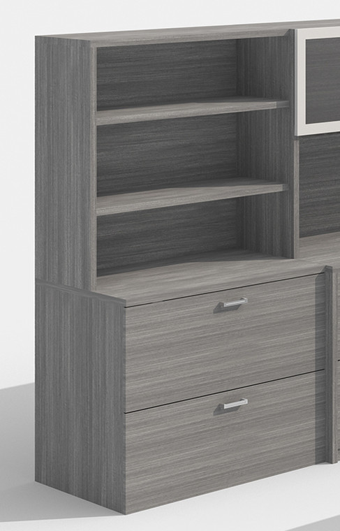 AM-Series 2-Drawer Lateral File Cabinet with Hutch
