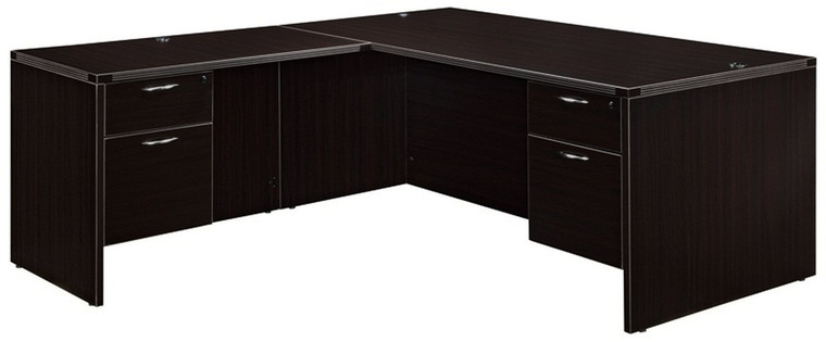 """AM-Series 60"""" Executive L-Shape Desk with Suspended Drawers"""