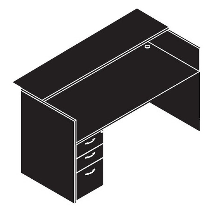 AM-Series Reception Desk with Single Pedestal