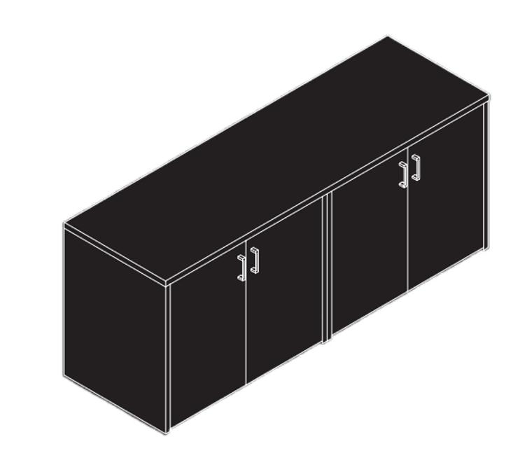 AM-Series 4-Door Storage Credenza