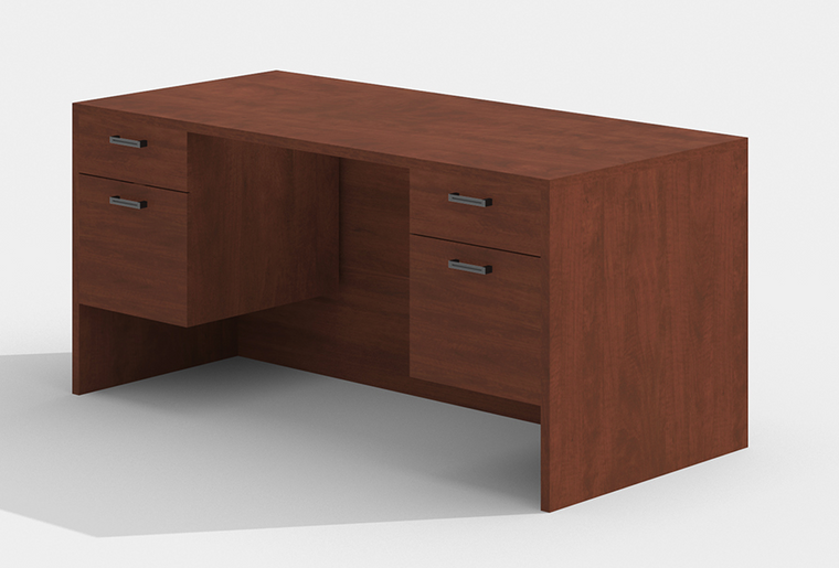 "AM-Series 66"" Executive Desk with Double Suspended Pedestals"