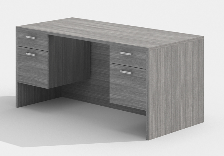 """AM-Series 60"""" Executive Desk with Double Suspended Pedestals"""
