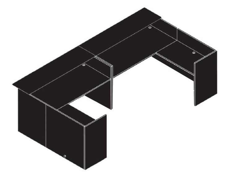 AM-Series U-Shape Reception Office Desk Shell