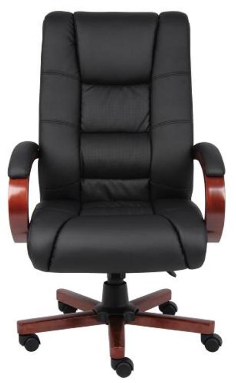 High Back Cherry Wood Executive Chair