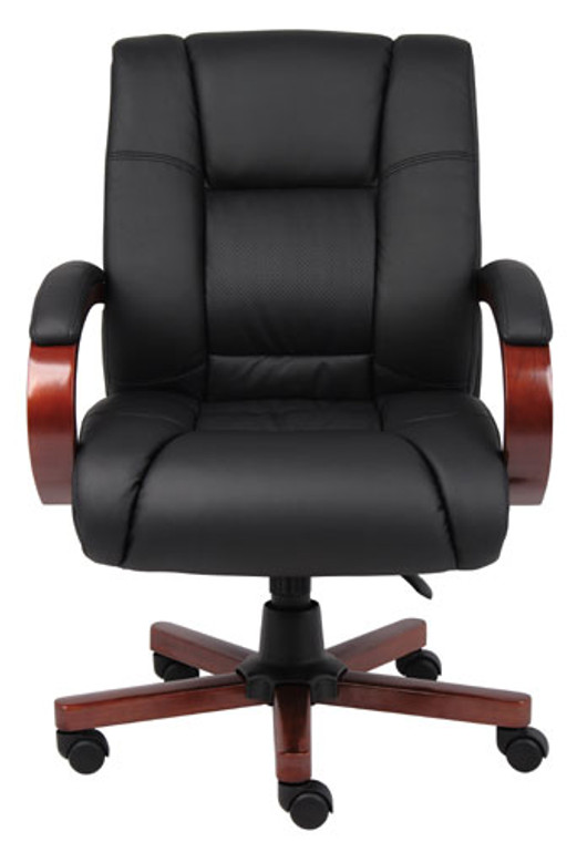 Mid Back Cherry Wood Executive Chair